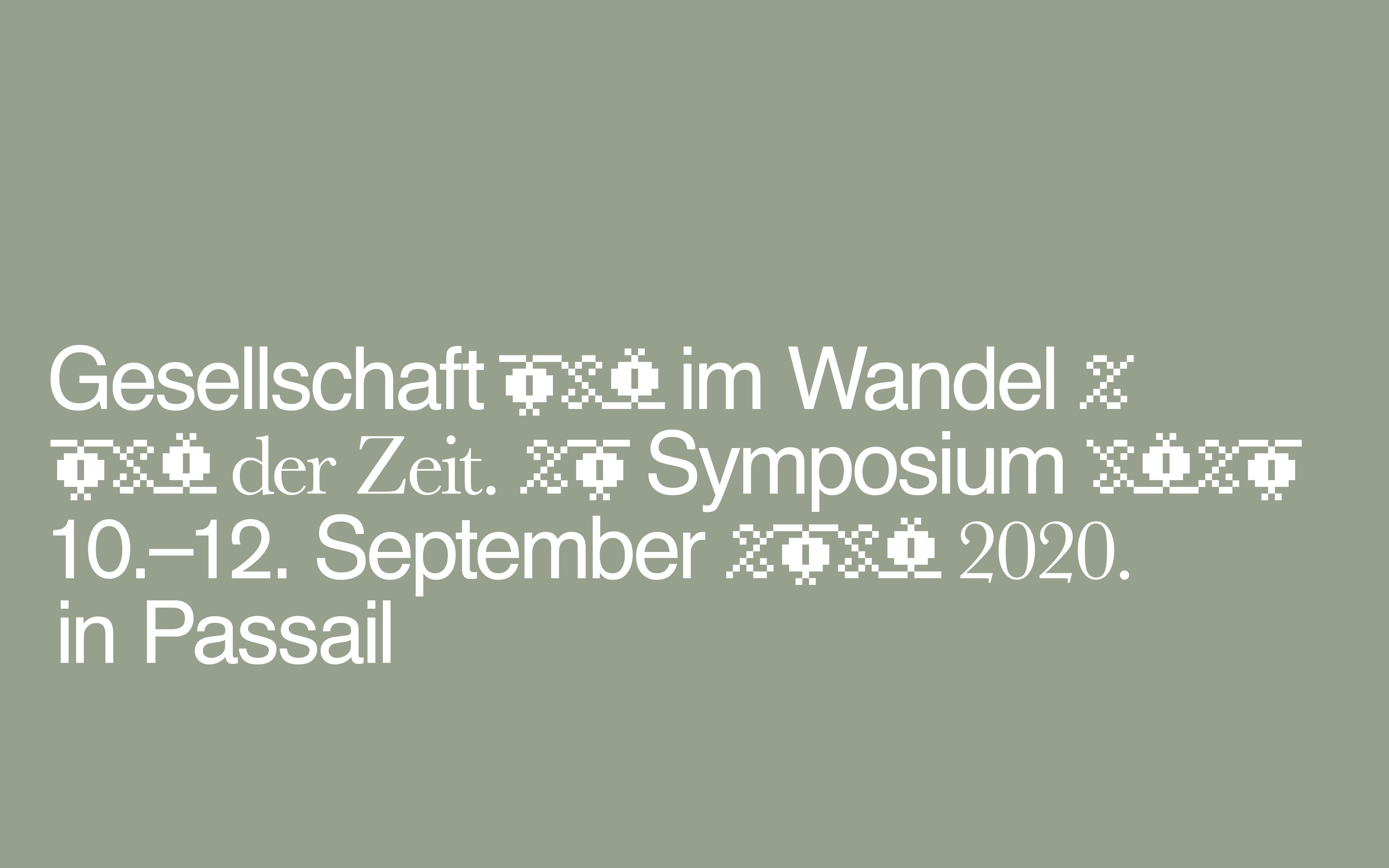 Symposium 10.09.-12.09.
